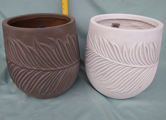 """9.5"""" Fibre Clay Pot"""