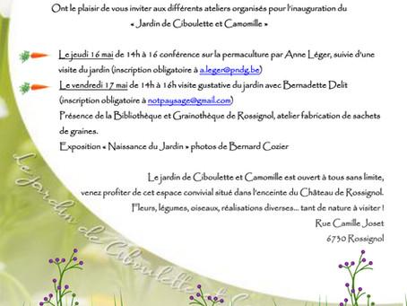 Le jardin de Ciboulette et Camomille au Parc de Rossignol les 16 et 17 mai