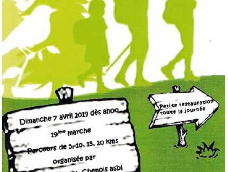 Marche Adeps à Saint-Vincent, dimanche 7 avril dès 8h00