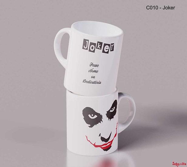 Joker, o vilão sorridente nas suas canecas de pequeno almoço