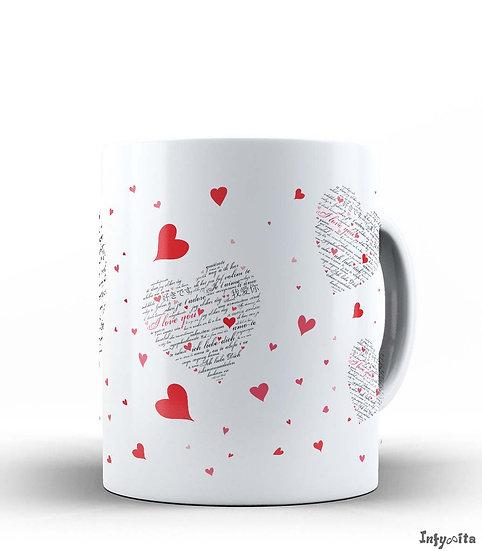 Em diferentes línguas, o mesmo sentimento Amor, personalize com Infynita