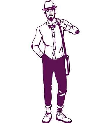 Um homem fashion-com estilo-com chapéu-com barba-personalize tshirts-crie o seu look