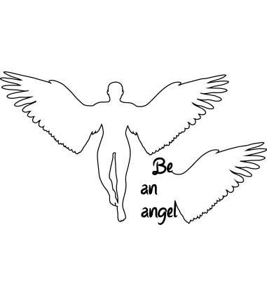 Be an Angel-como um anjo-loja online personalize as suas tshirts