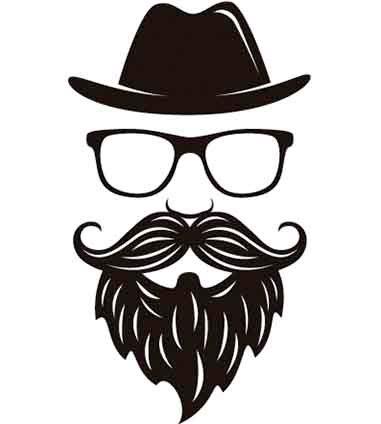 Homem com barba- homem com estilo- personalize as suas tshirts