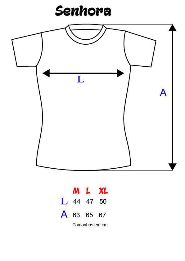 Medidas de T-shirts SENHORA
