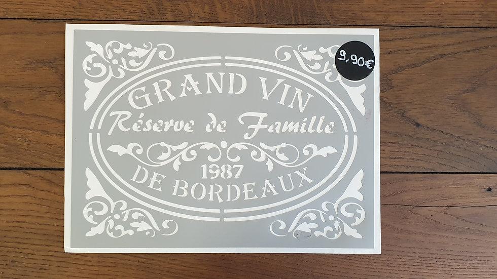 """Pochoir """"Bordeaux"""""""