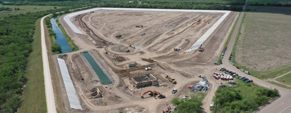 UNITED IRRIGATION DISTRICT PROJECT                 This project consists of 52 acres of raw water detention for the United Irrigation District that provides water for major cities like the city of Mission, Texas. The Sugar Land water system serves many entities north of Mission and Hidlago County, north of Alton. Improvements include 72-inch RC pipes, new pumphouse with 3 water pumps and SCADA system, new electrical service, concrete liner, 1 mile of levee and other miscellaneous improvements.