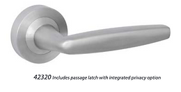 Austyle - 316 Stainless Door Lever Range - Contemporary Thick Round Rose Set