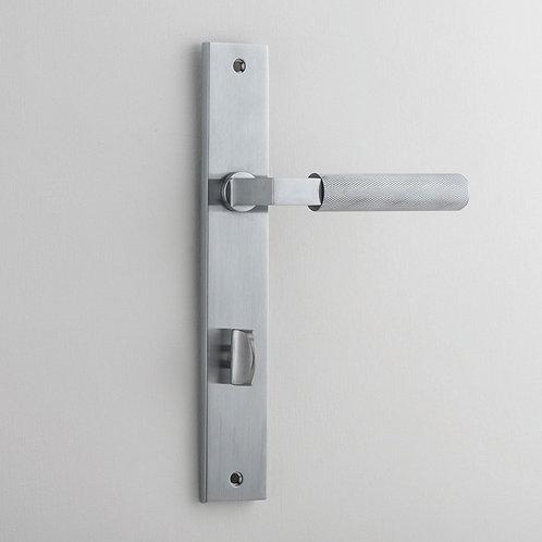 Bankston - Brunswick Knurled Door Lever - Rectangular - Privacy