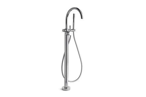 Brodware - Manhattan - Floor Mount Bath Mixer with Hand Shower 1.9108.08.0.01