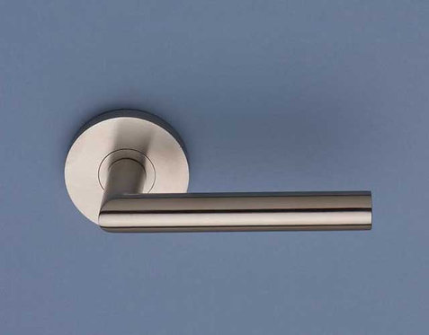 BlueSpec - Classic Stainless Steel Door Lever - Large Round Rose D65mm
