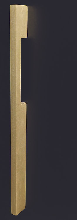 Austyle - Entrance Pull Handle - Satin Brass Blade Design (Back-to-Back) 450mm