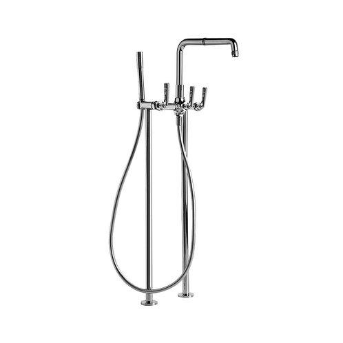 Brodware - Industrica - Floor Mount Bath Mixer with Hand Shower 1.6722.00.3.01
