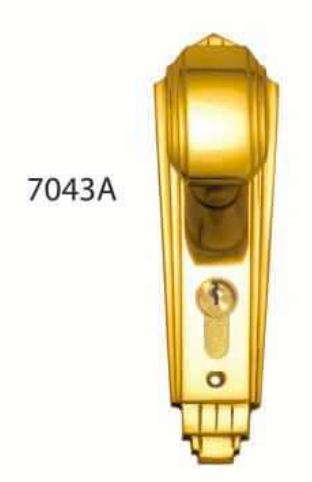Superior Brass - Art Deco Door Knob - Decorative - Euro
