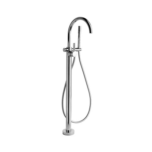 Brodware - City Plus Lever - Floor Bath Mixer with Hand Shower 1.9708.08.7.01
