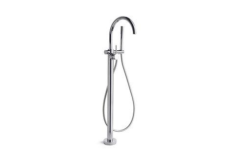 Brodware - City Stik - Floor Mount Bath Mixer with Hand Shower 1.9908.08.0.01