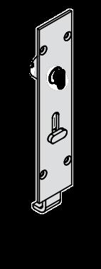 Brio - 456I Inward Opening Flush Reverse Barrel Bolt - Squared 190mm