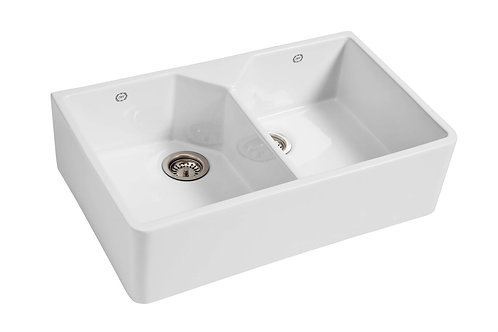 1901 Sinks - Double Butler Fireclay Sink 800x500x220mm