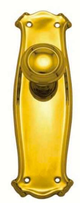 Superior Brass - Art Nouveau/Bungalow Door Knob - Round - Latch
