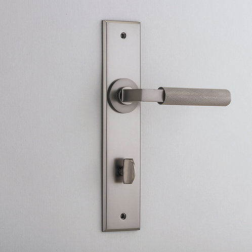 Bankston - Brunswick Knurled Door Lever - Chamfered - Privacy