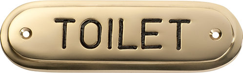 Tradco - Brass Sign - Toilet