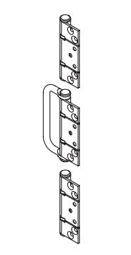 Brio - BW7-100H - Handle Hirline Offset Hinge Set (Suit Exterior Interfold Door)
