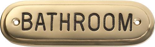 Tradco - Brass Sign - Bathroom