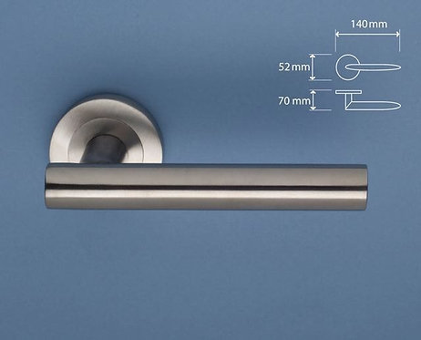 BlueSpec - McEvoy Stainless Steel Door Lever - Round Rose D52mm