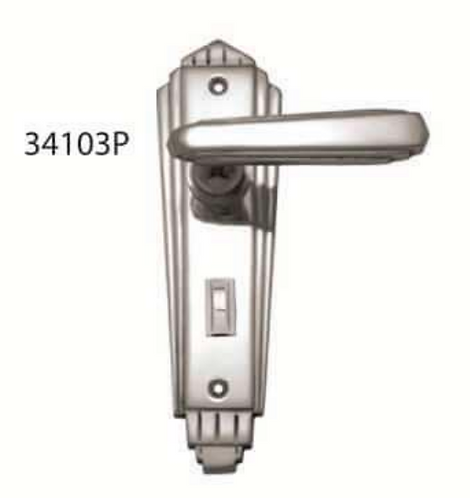Superior Brass - Art Deco Door Lever - Decorative - Privacy