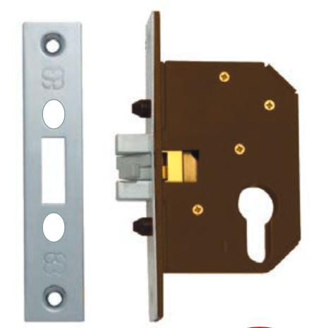 Austyle - Security Cavity Sliding Door Lock - Euro B45mm