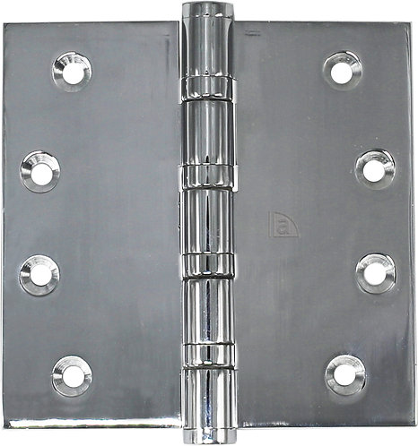 Austyle - Hinges - Polished 304 Stainless - Fixed Pin H100xW75/100mm (Pair)