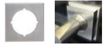 Austyle / Superior / Builder's Choice - Square Retrofitting Adaptor Plate D63mm