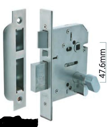 Austyle - Commercial Security Dead Bolt & Latch Escape Release Lock - Euro B60mm