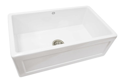 1901 Sinks - Farmhouse Fireclay Sink 755x455x255mm