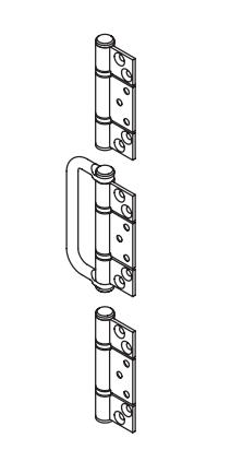 Brio - BW3-35H - Handle Hirline Hinge Set (Suit Interfold Doors)
