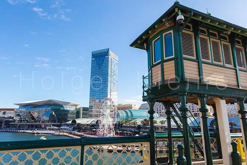 Observation tower at Darling Harbour, Sydney.