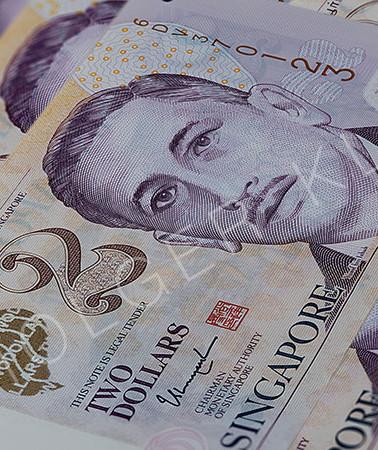 Bunch of two Singaporean Dollars