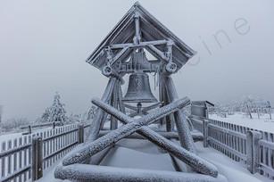 Snowy winter landscape of the east german mountain Erzgebirge