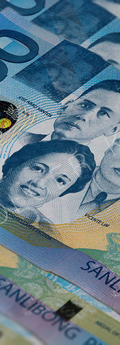 Front side of 1000 peso bill of the Philippines
