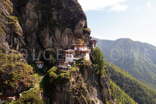 The tiger nest monastery in the Himalaya of Bhutan