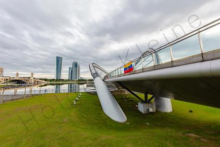 Putrajaya bridge in the artificially grown city of Putrajaya