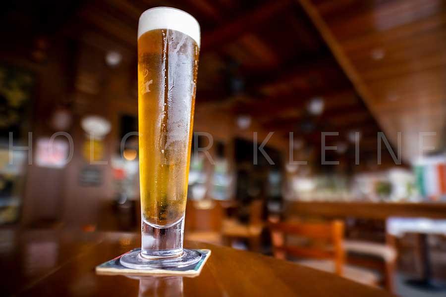 Pint of fresh draft beer.