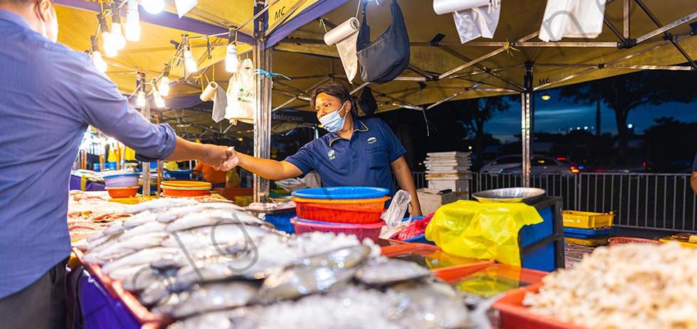 Street food night market at Putrajaya, near Kuala Lumpur.