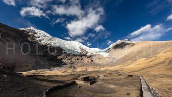 Kangbu glacier at 5200 meter above sea level at Tibet
