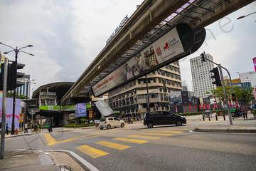 Bukit Bintang junction in Malaysia capitol city Kuala Lumpur