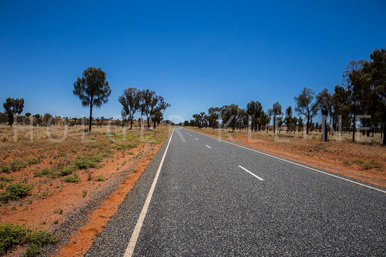 The stuart highway at the Australian Outback.