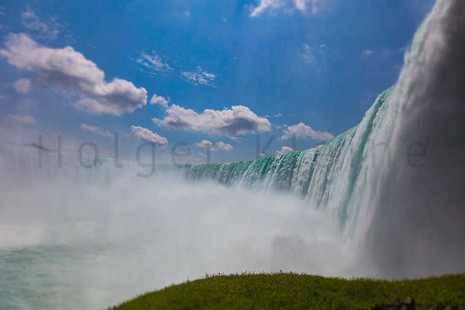 View of the impressive Niagara Falls