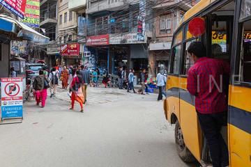 Kathmandu inner city still marked from the earthquake
