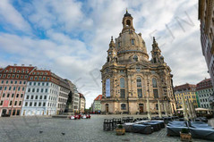 view to the rebuilded Frauenkirche
