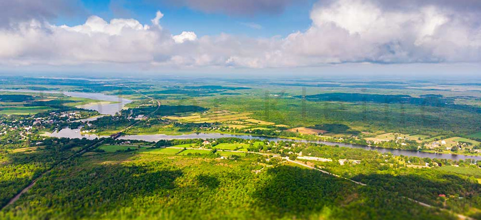 Aerial view over the Landscape of Canada, at Merrickville, Ontario